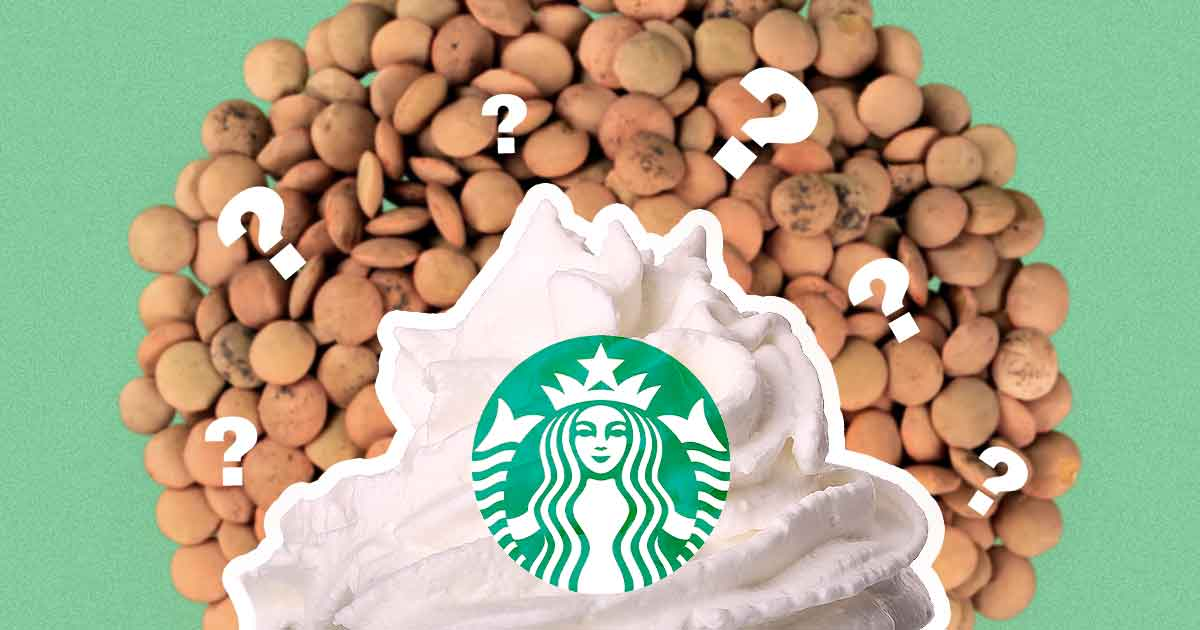 This Starbucks 'Whipped Cream' Is Made From Lentils