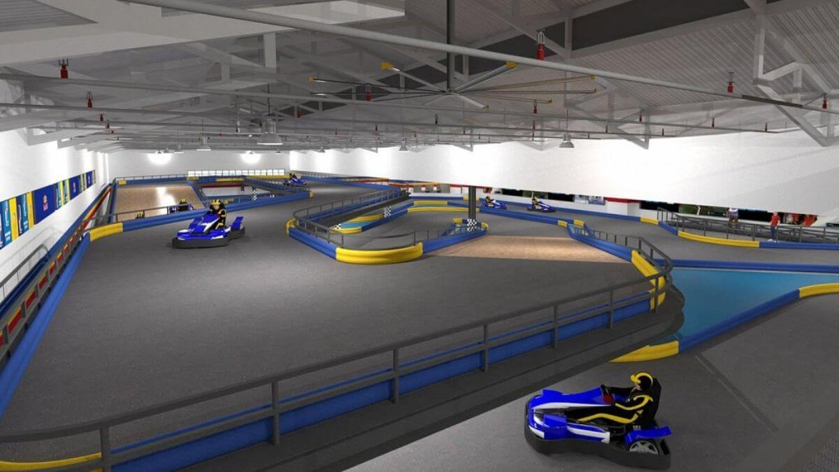 LOOK: SM North EDSA is building an indoor all-electric go-kart racing track