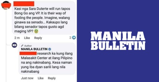 Manila Bulletin apologizes for Bong Go argument made using official account