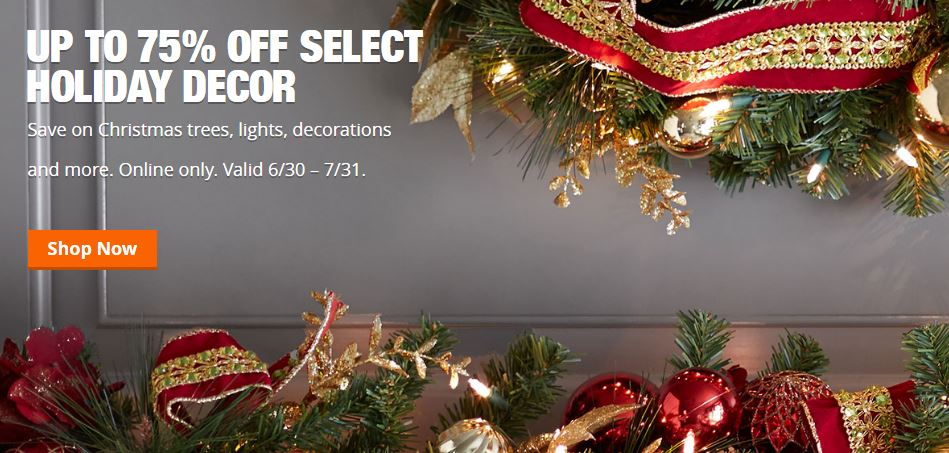 Christmas In JULY At Home Depot! Save 75% Off Christmas