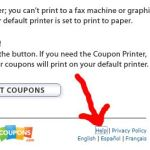 Help Button at Coupons.com