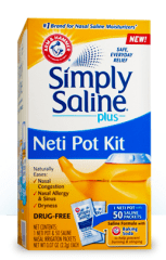 Simple Saline Neti Pot Kit