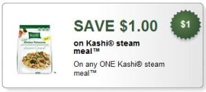 Kashi Coupon $1.00 off Steam Meals