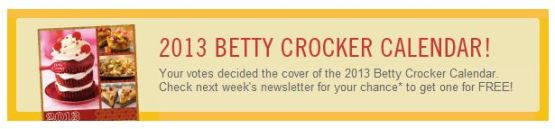 Betty Crocker Calendar