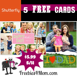 5 Free Shutterfly Cards