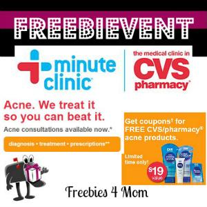 Free Acne Consultations at CVS