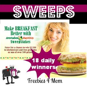 Sweeps Make Breakfast Better With Avocados From Mexico (18 Daily Winners)