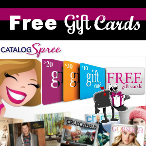 Free Gift Cards ($50 value) from Catalog Spree