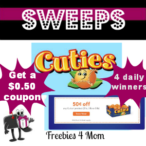Sweeps Cuties Create-a-Critter Contest (All entries get a $0.50 Cuties coupon)