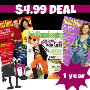 $4.99 for Good Housekeeping Magazine