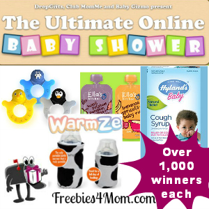 Free Baby Products from The Ultimate Online Baby Shower