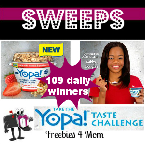 Sweeps Yopa! Taste Challenge (109 Daily Winners)