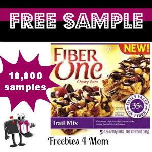 Free Sample Fiber One Chewy Bars Trail Mix from Pillsbury