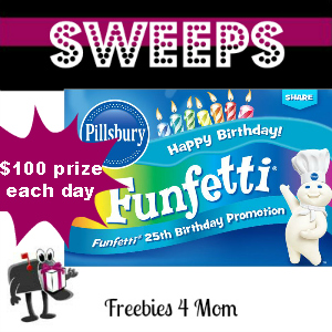 Sweeps Pillsbury Funfetti 25th Birthday Promotion (1 Daily Winner)