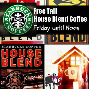 Free Starbucks Tall Coffee until Noon on Friday