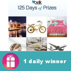Sweeps Belk's 125 Days of Prizes