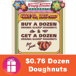 BOGO Dozen for $0.76 at Krispy Kreme