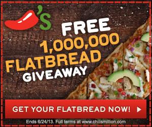 Freebie Flatbread at Chili's