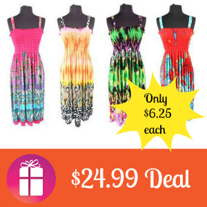 $24.99 4-Pack Beach Cover-Up Dresses
