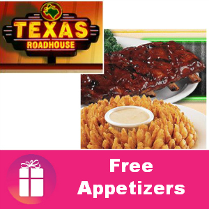 Free Appetizers at Texas Roadhouse