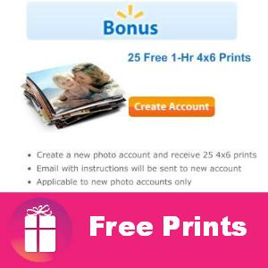 25 Free Prints at Walmart (New Photo Accounts)