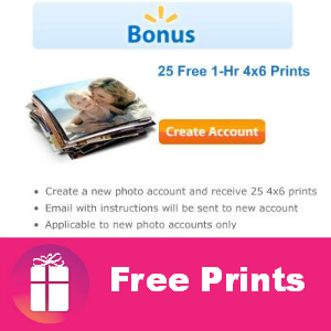 25 Free Prints at Walmart (New Photo Accounts)