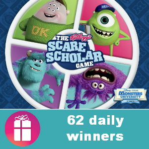 Sweeps Kellogg's Monsters U Scare Scholar
