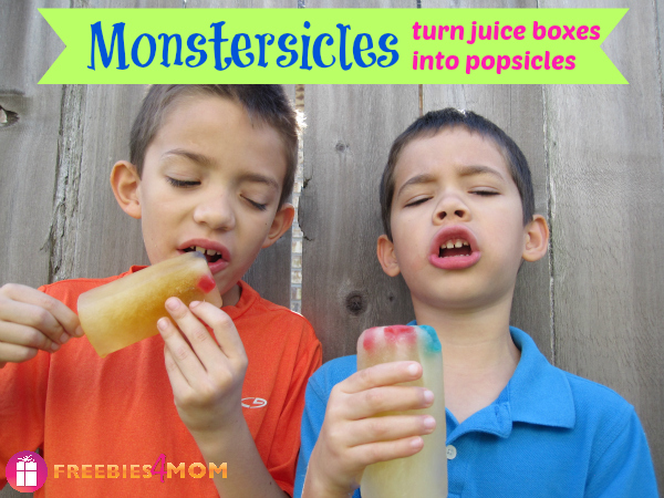 Monstersicles: Turn juice boxes into popsicles