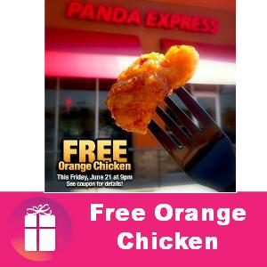 Free Orange Chicken at Panda Express Friday
