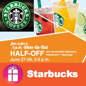 Starbucks Refreshers Half-Off