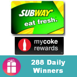 Sweeps Subway Gift Card IWG
