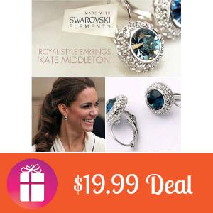 $19.99 Swarovski Silver Stud Earrings