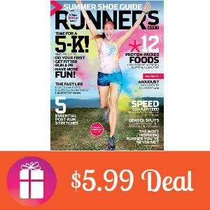 Deal $5.99 for Runner's World Magazine