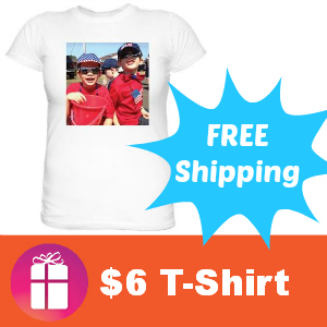 $6 Custom T-Shirt with Free Shipping