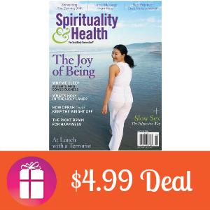 Deal $4.99 for Spirituality & Health Magazine