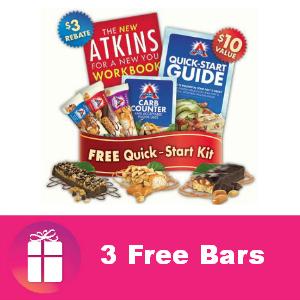 Freebie 3 Atkins Bars ($10 value)