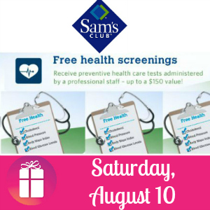 Free Health Screening at Sam's Club August 10