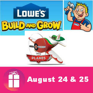 Free Kids Clinic at Lowe's Aug. 24 & 25