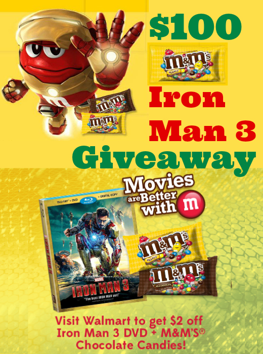 $100 M&M's Iron Man 3 Giveaway