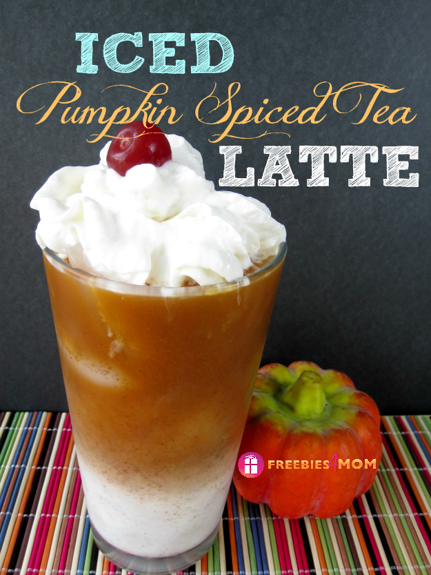 Iced Pumpkin Spiced Tea Latte Recipe