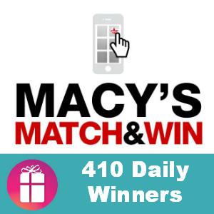 Sweeps Macy's Match & Win