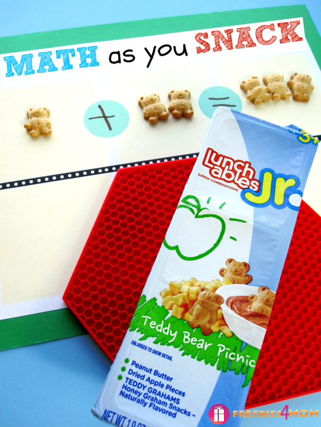 Math as you Snack with Lunchables #LunchablesJR #shop (free printable)