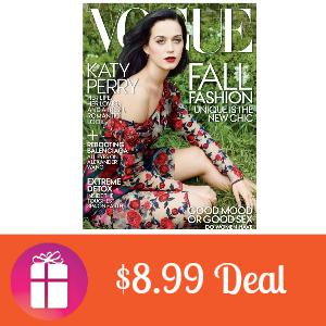 Deal $8.99 for Vogue Magazine