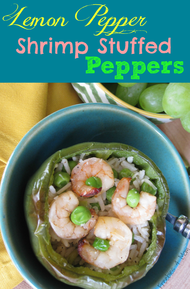 Lemon Pepper Shrimp Stuffed Peppers #SauteExpress #cbias #shop