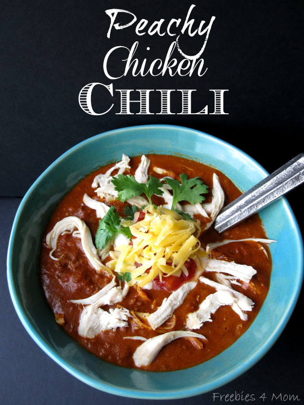 Peachy Chicken Chili Recipe #1TexasChili #ad