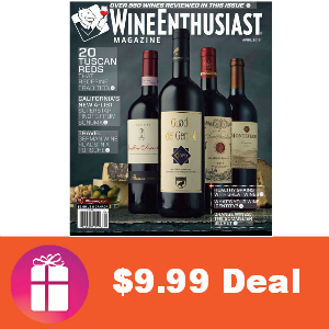 Deal $9.99 for Wine Enthusiast Magazine
