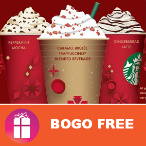 Starbucks Holiday Drinks BOGO FREE