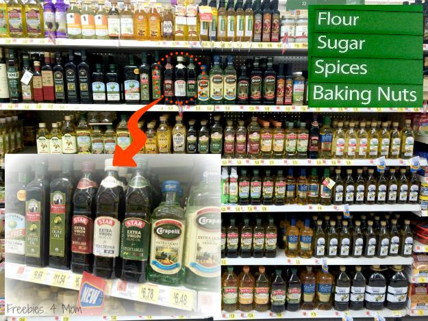 STAR Usage Pairing Extra Virgin Olive Oils on Walmart shelf