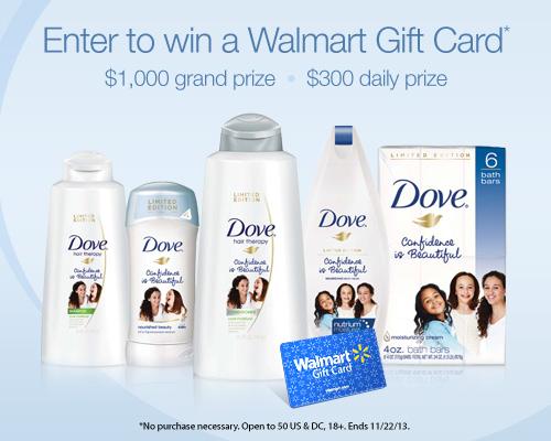 Dove Self-Esteem Project: $300 Daily Prize