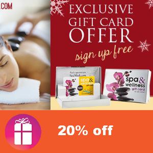 20% off SpaWeek Gift Cards